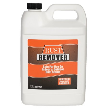 Rust and Iron Stain Remover, Spray and rinse - 1 Gallon (128 Ounces) - Safely and Easily Takes Out Rust and Iron Stains from Sinks, Dish Washers, Tile, Tubs, Siding, Concrete and