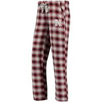 Nebraska Cornhuskers Concepts Sport Women's Forge Flannel Pant - Black/Scarlet