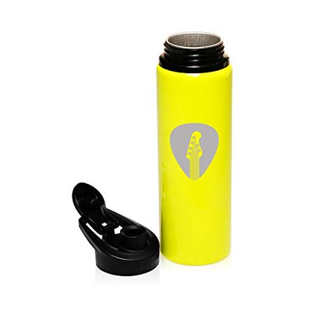 - MIP Brand 25 oz Aluminum Sports Water Travel Bottle Guitar Pick (Yellow)