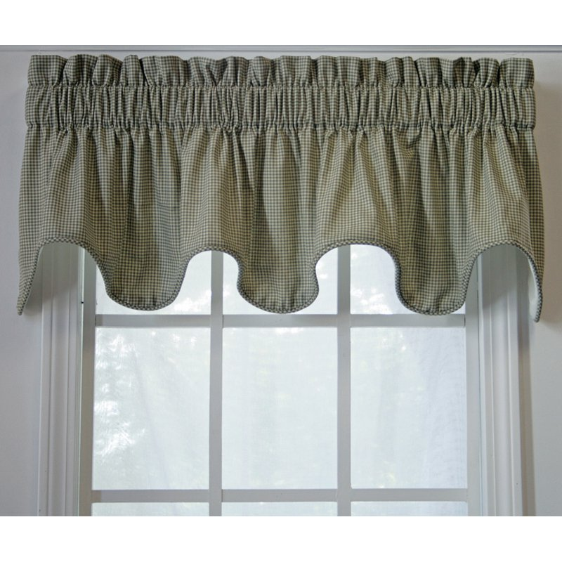 "Inc."" Checkered Scallop Valance"