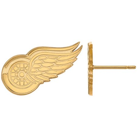 Detroit Red Wings Silver Earrings Silver Red Wings