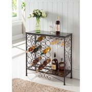 K&B Furniture Bronze Metal Wine Rack