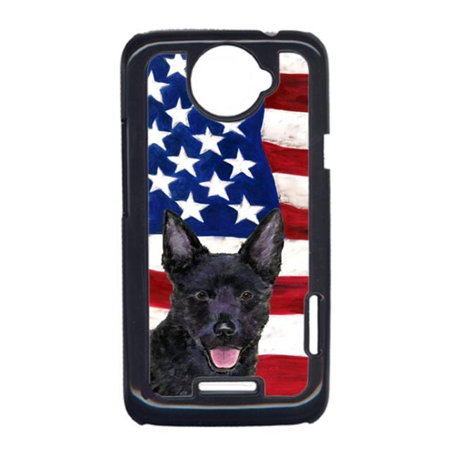 Carolines Treasures SS4025HTCONE USA American Flag With Australian Kelpie HTC One X Cell Phone Cover - image 1 of 1
