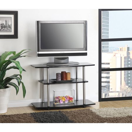 Designs 2 Go Three-Tier TV Stand, for TVs up to 32″ by Convenience Concepts, Multiple Colors