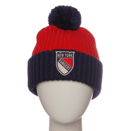 American Needle NHL Hockey Team Colors Winter Cable Knit Pom Pom Beanie Hat Cap