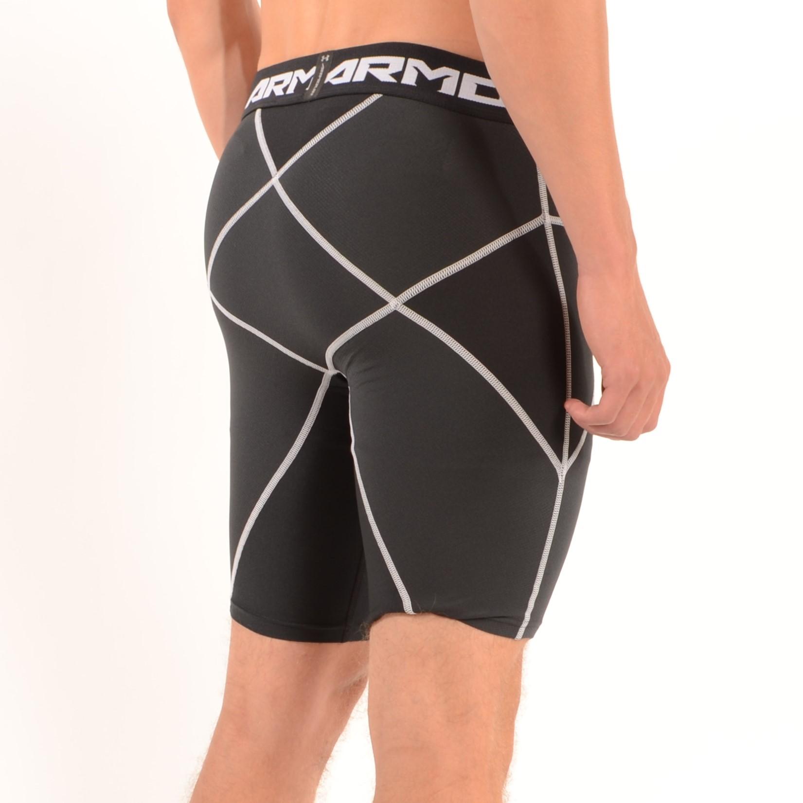Men/'s UNDER ARMOUR Heat Gear Compression Core Shorts Black Size Large BNWT