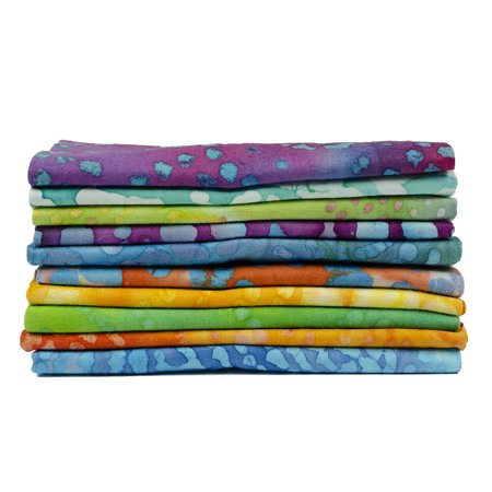 Fabric Editions- Cotton Fabric, 10pc Fat Quarter Bundles LONG ROAD (Batik Fat Quarter)