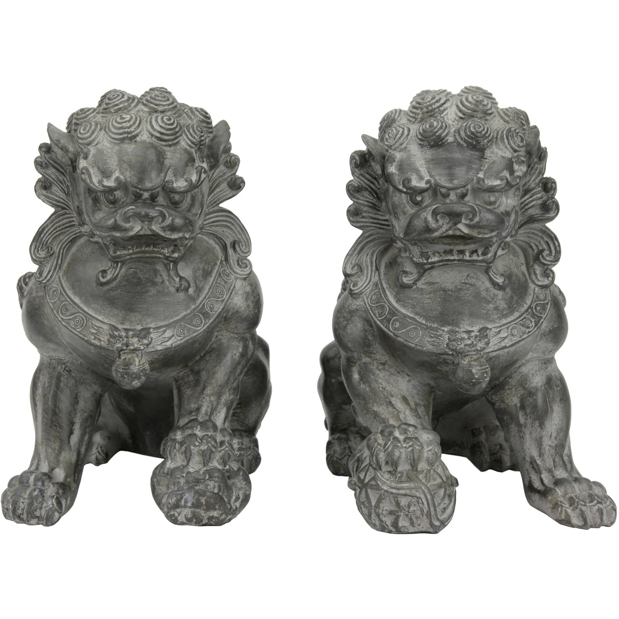 "9"" Sitting Foo Dog Statues (Set of Two B by Oriental Furniture"