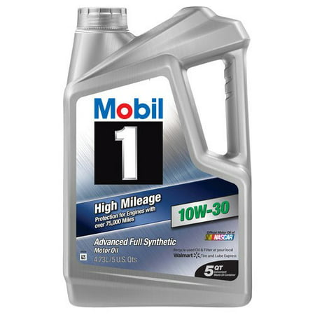 mobil 1 10w 30 high mileage full synthetic motor oil 5 qt