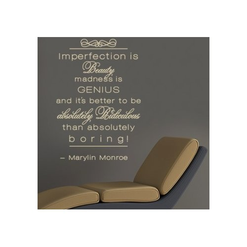 Style and Apply Imperfection is Beauty Wall Decal