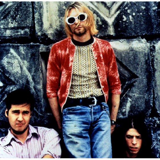 0f77bdfe1f7d MyPartyShirt - Kurt Cobain White Round Sunglasses - Walmart.com