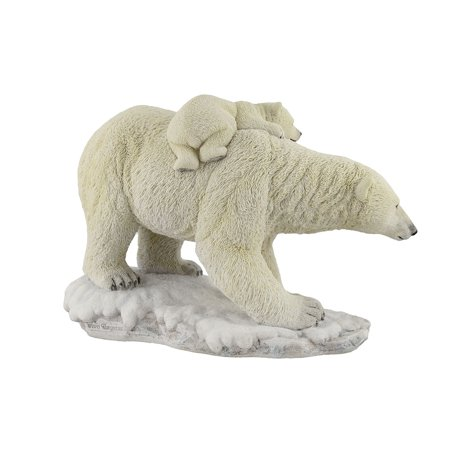 Polar Bear Mother With Adorable Freeloading Cub Statue - image 3 de 4