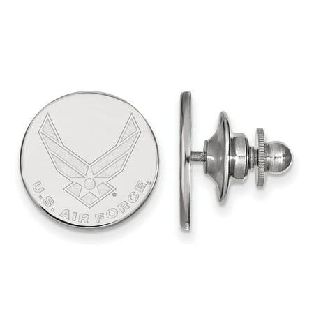 FB Jewels 925 Rhodium Plated Sterling Sliver U.S. Air Force Tie Tac Mens Air Tac Ridge