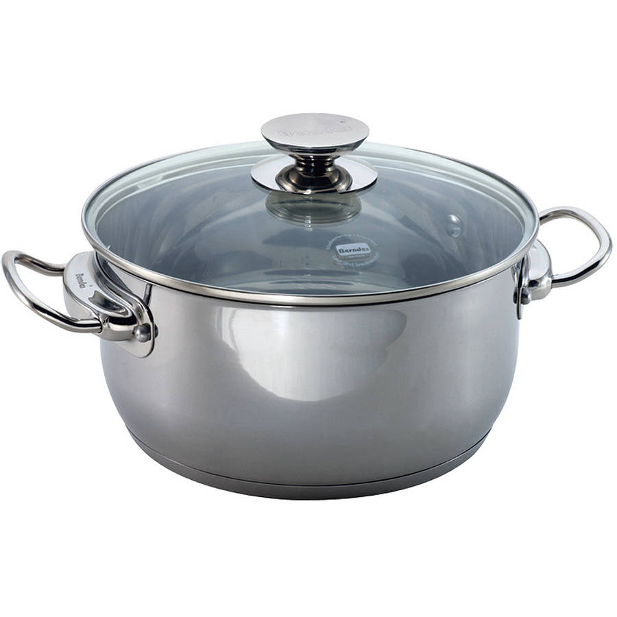 """Berndes Cucinare Induction Stainless Steel Stock Pot, 11.5""""/9 qt with Lid"""