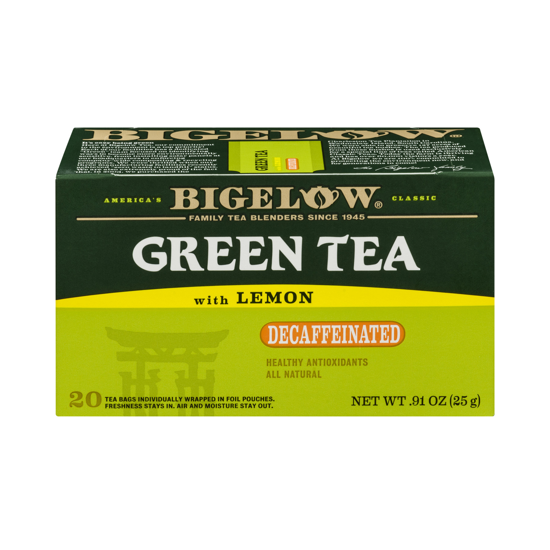 Bigelow Green Tea Decaffeinated With Lemon - 20 CT20.0 CT