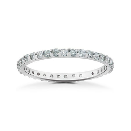 VS2-SI1 7/8 ct Diamond Eternity Ring in 14k Rose, Yellow, White Gold &
