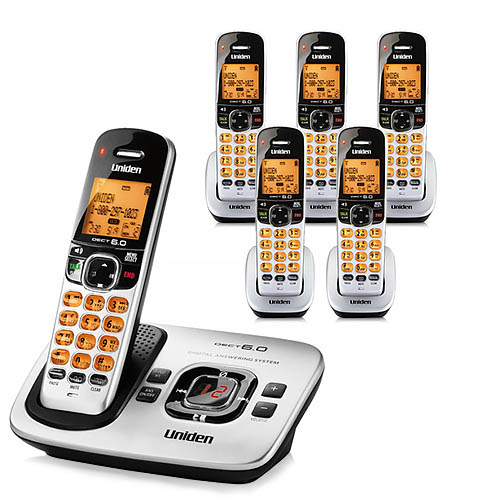 Uniden D1760-6 Cordless Phone w  5 Extra Handsets by Uniden