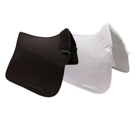 Derby Originals Semi Fleece Lined Dressage Saddle Pad - Black