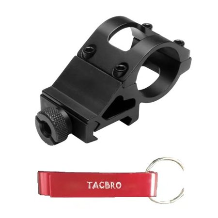 """TACBRO 1"""" Offset Mount for Flashlight & Laser with one free TACBRO opener(Randomly selected color)"""