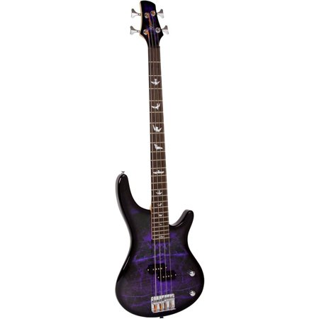Btb Bass (Lindo PDB Series Purple Dove Electric Bass Guitar With Carry Case and)