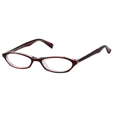 Bocci Women's Eyeglasses 251 03 Burgundy Crystal Full Rim Optical Frame (Optical Crystal Block)