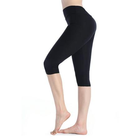LELINTA Leggings for Women Compression Yoga Panty Sports Fitness Slim Tights Leggings Black Color Regular Size (2 X U Compression Tights)
