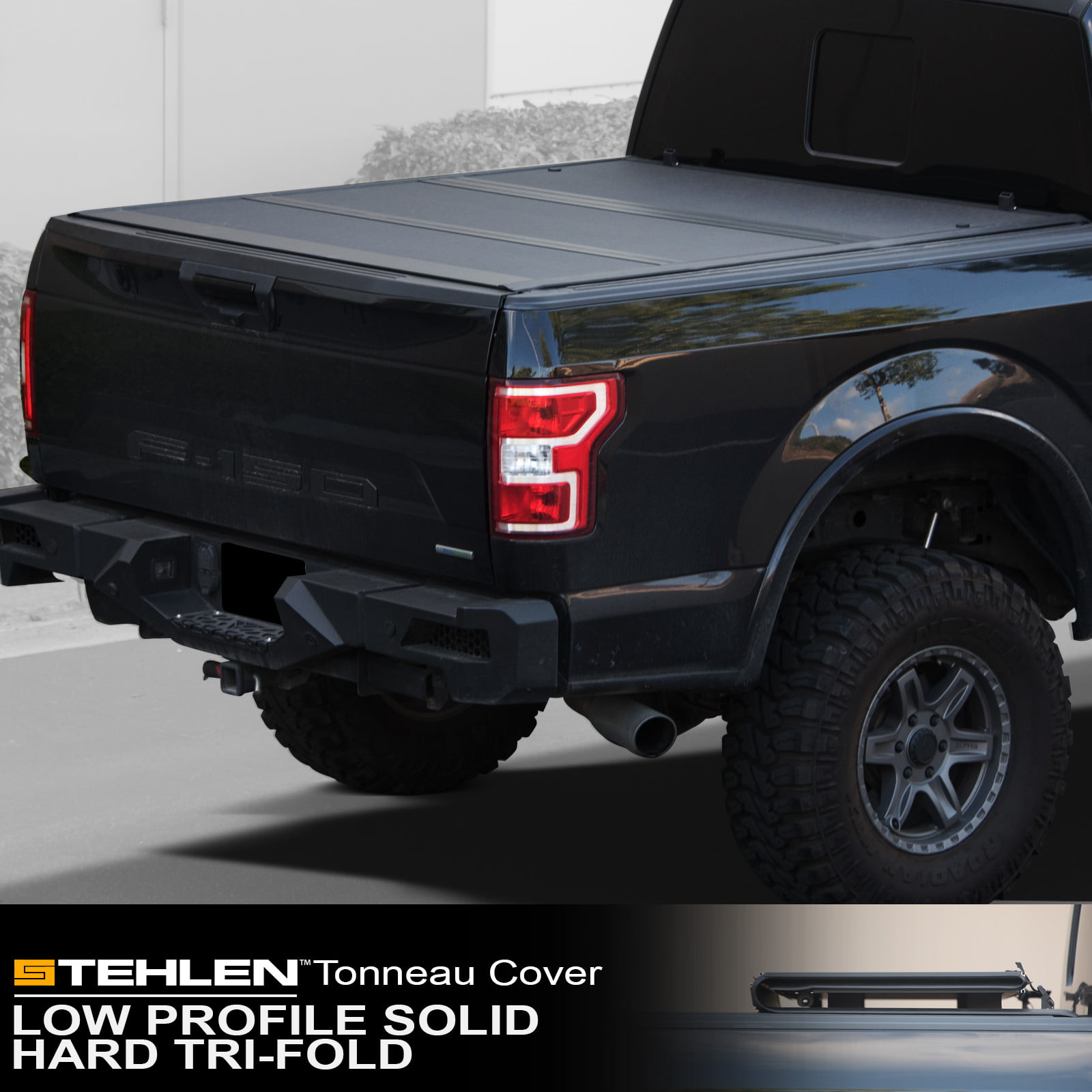 Stehlen 642167822394 Low Profile Hard Plastic Tri Fold Tonneau Cover Matte Black For 2019 2020 Up Dodge Ram 1500 5 7 Feet 68 4 Short Bed New Body Style Walmart Com Walmart Com