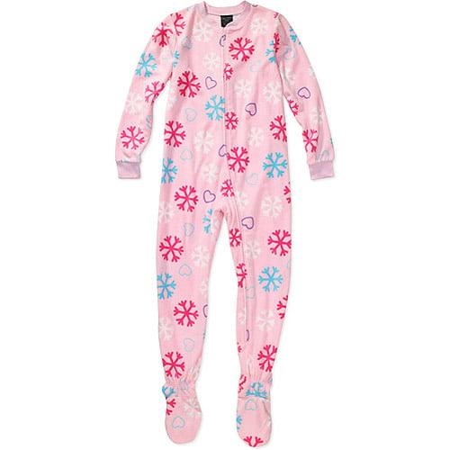 Faded Glory - Girls' Footy Pajamas