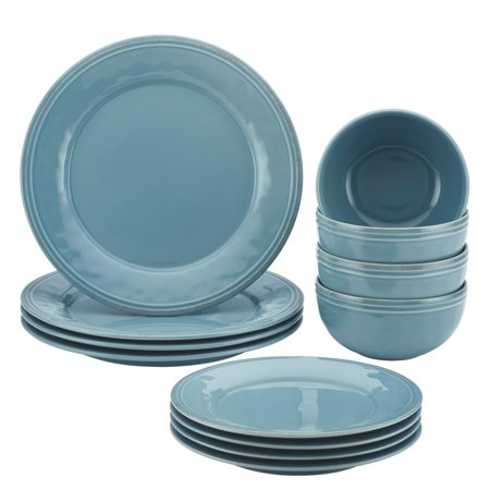 Rachael ray cucina 12 piece stoneware dinnerware set for Kitchen dish sets