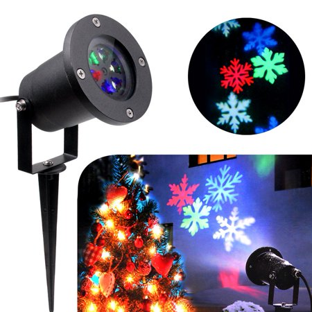 koot christmas lights halloween snowflake decorations outdoor waterproof led light projector colorful moving snowflake for