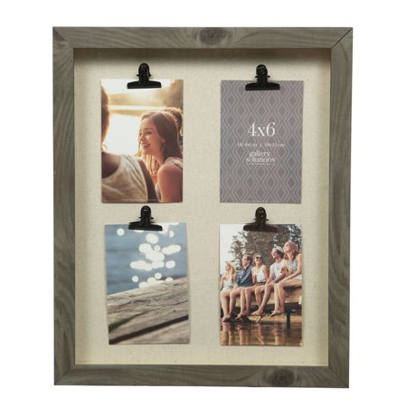 GALLERY SOLUTIONS 14x18 Four Opening Clip Collage Frame - Walmart.com