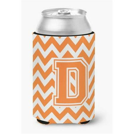 Letter D Chevron Orange & White Can or Bottle Hugger - image 1 de 1