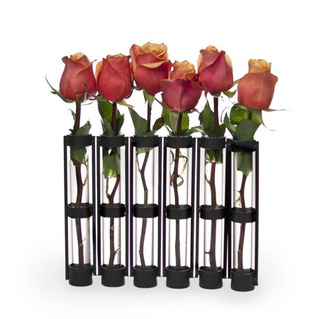 Danya B. Six-Tube Hinged Vases on Rings Stands ()