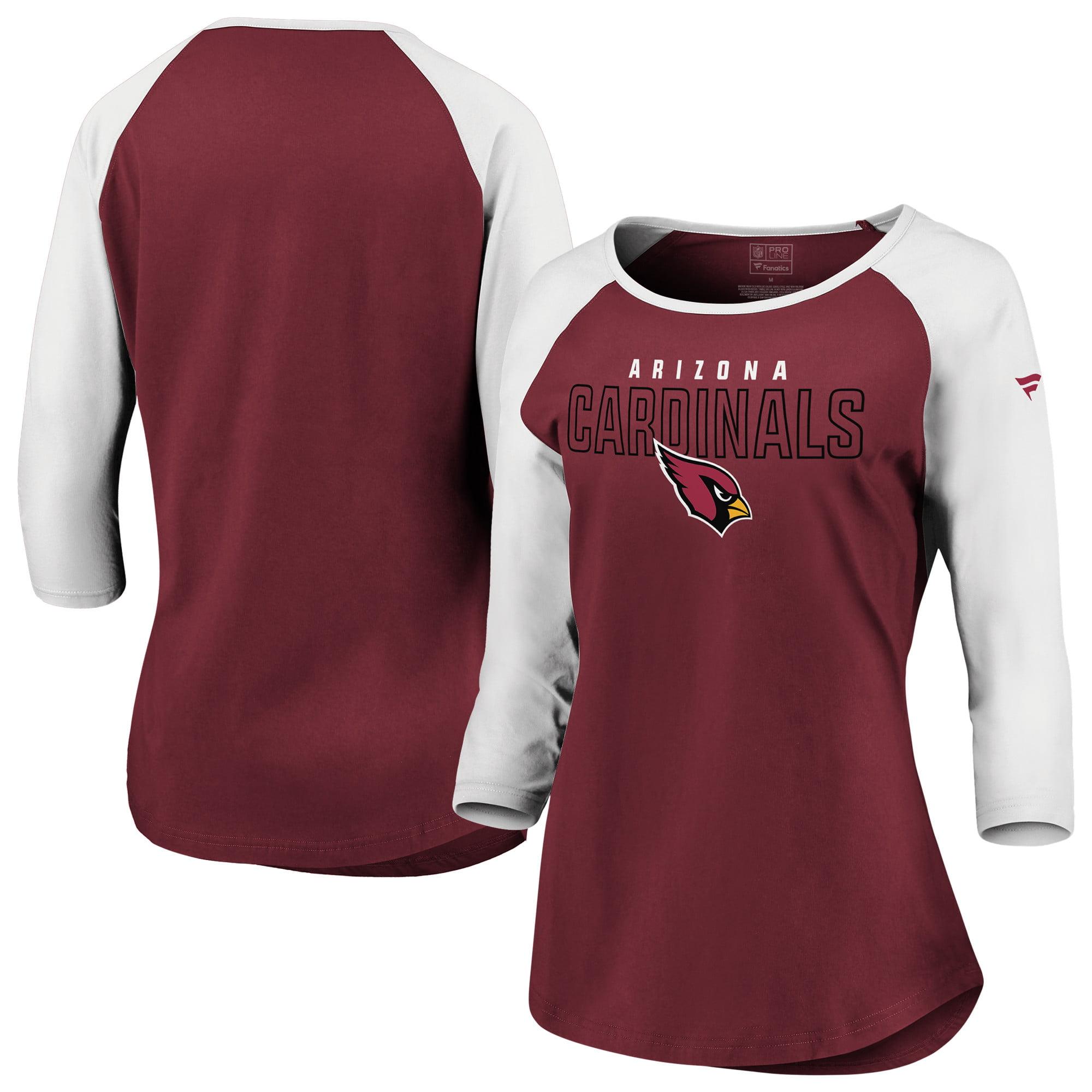 0af34106 Arizona Cardinals NFL Pro Line by Fanatics Branded Women's Iconic Color  Block 3/4-Sleeve Raglan T-Shirt - Cardinal/White