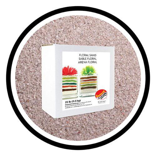 Floral Colored Sand 25 lb (11.34 kg) Box - Light Silver