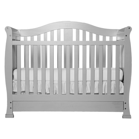 dream on me addison 5 in 1 convertible crib with drawer mystic gray. Black Bedroom Furniture Sets. Home Design Ideas