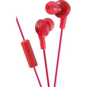JVC Gumy Plus Inner Ear Headphones With Remote & Mic  - Red