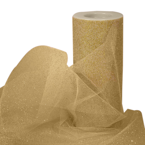 "Metallic Gold Tulle 3"" X 25 Yards by Paper Mart"