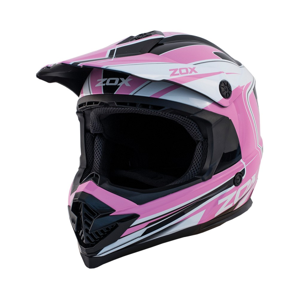 Zox Rush Lucid MX Offroad Helmet Pink