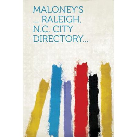 Maloney's ... Raleigh, N.C. City Directory... for $<!---->