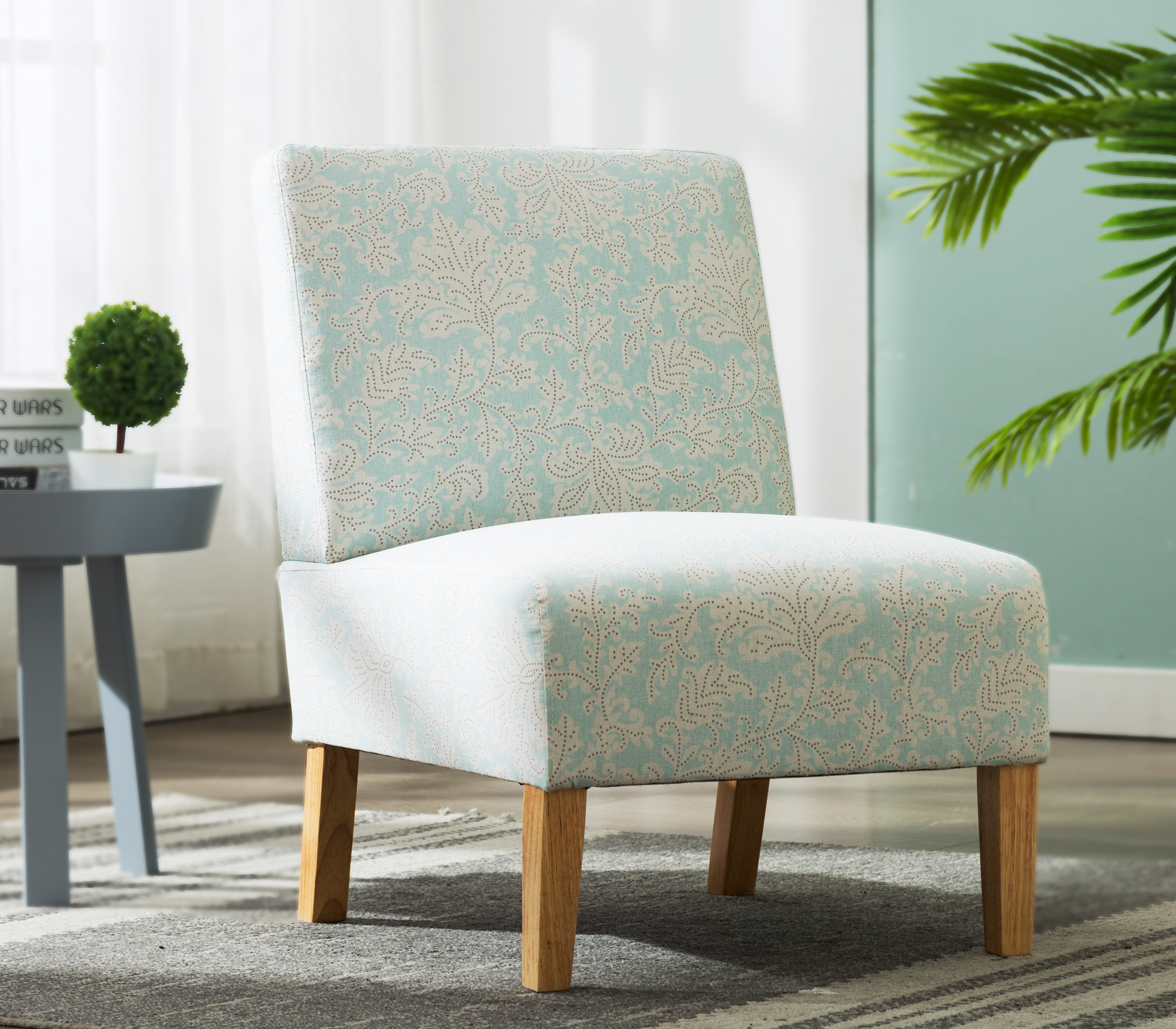 Accent Chairs on Clearance, Upholstered Armless Accent ...
