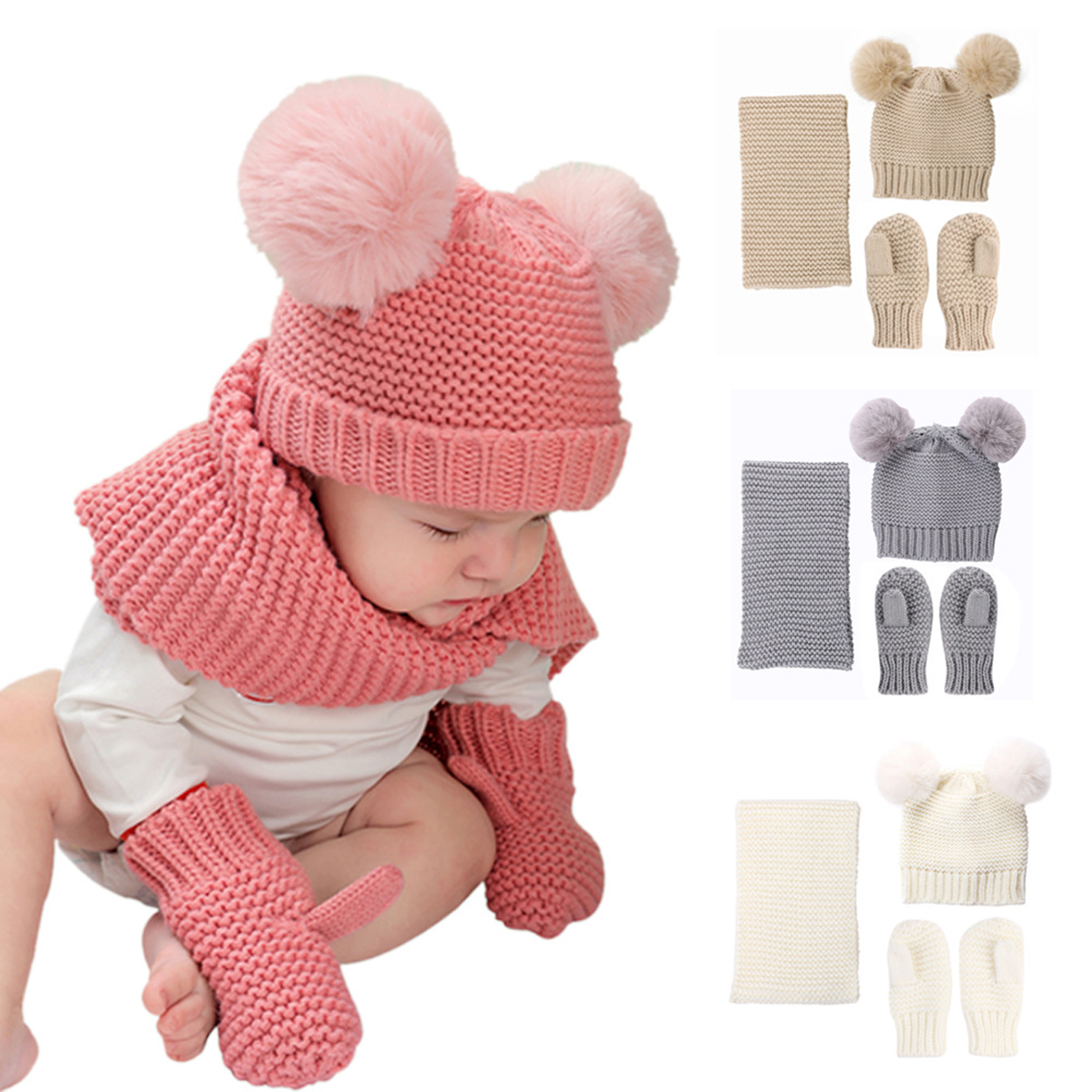 Colorfulworldstore 25 Styles Cartoon Plush Animal Hats with Scarfs Mittens Gloves Performance Props