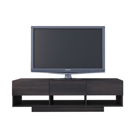 Nexera Rustik 60 inch 3 Drawer TV Stand, Ebony ()