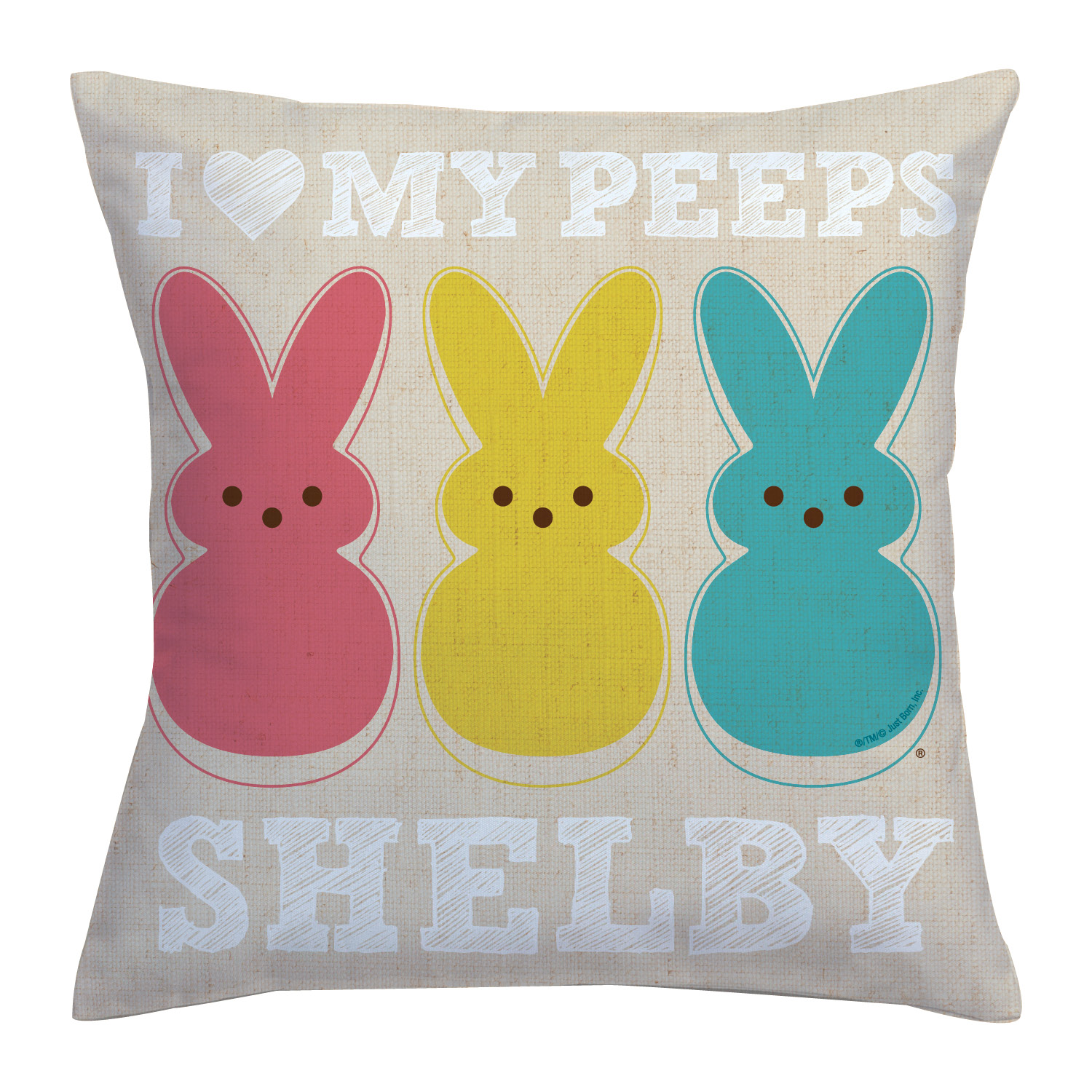 Personalized I Love My Peeps Throw Pillow