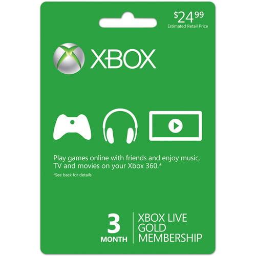 Video Juegos Xbox LIVE 3 meses Gold Card (Xbox 360) + Microsoft en Veo y Compro