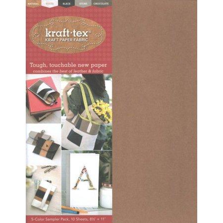 Kraft-Tex Basics 5-Color Sampler Pack : 10-Sheets 8 1/2 X 11