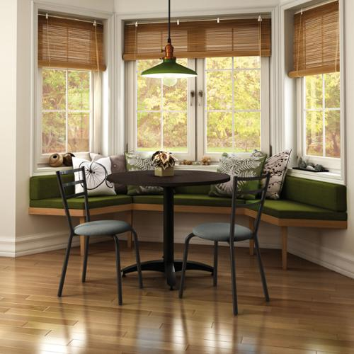 Amisco Sophia Metal Chairs And Judy Table Dining Set Metal:  Black Polyester: Medium