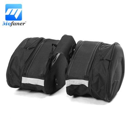 Saddlebag Motorcycle Luggage (58L Capacity Multi-use Expandable Motorcycle Rear Seat Luggage Saddle Bag)