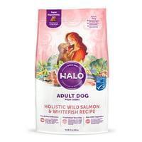 Halo Natural Dry Dog Food, Wild Salmon & Whitefish Recipe, 21-Pound Bag