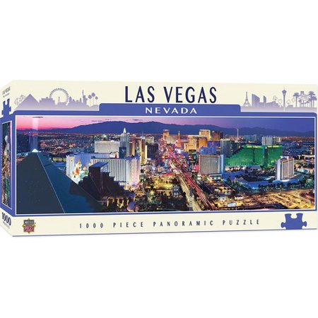 MasterPieces Cityscape - Las Vegas 1000pc Panoramic - Las Vegas Souvenirs
